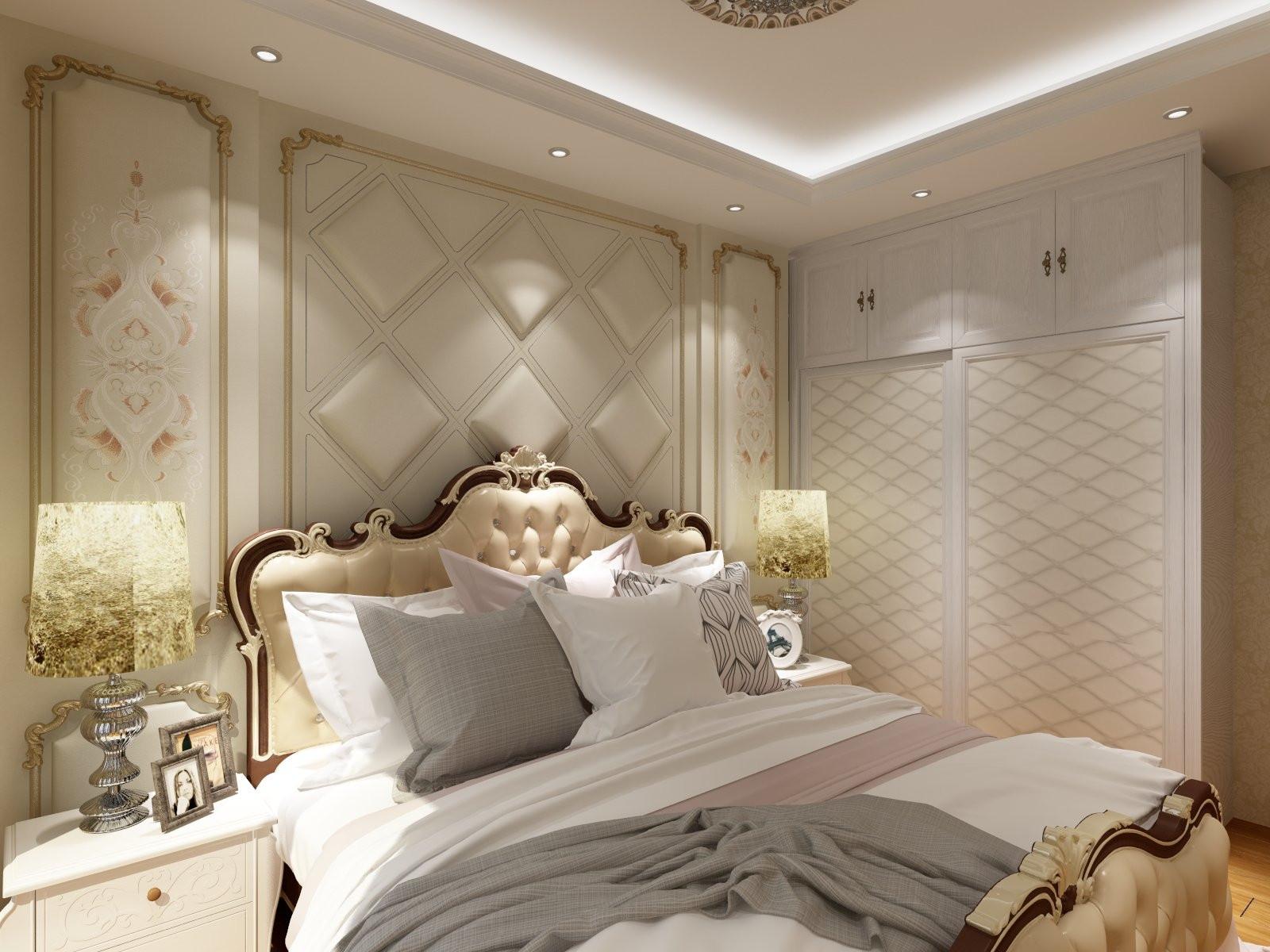 欧式三居装修卧室效果图
