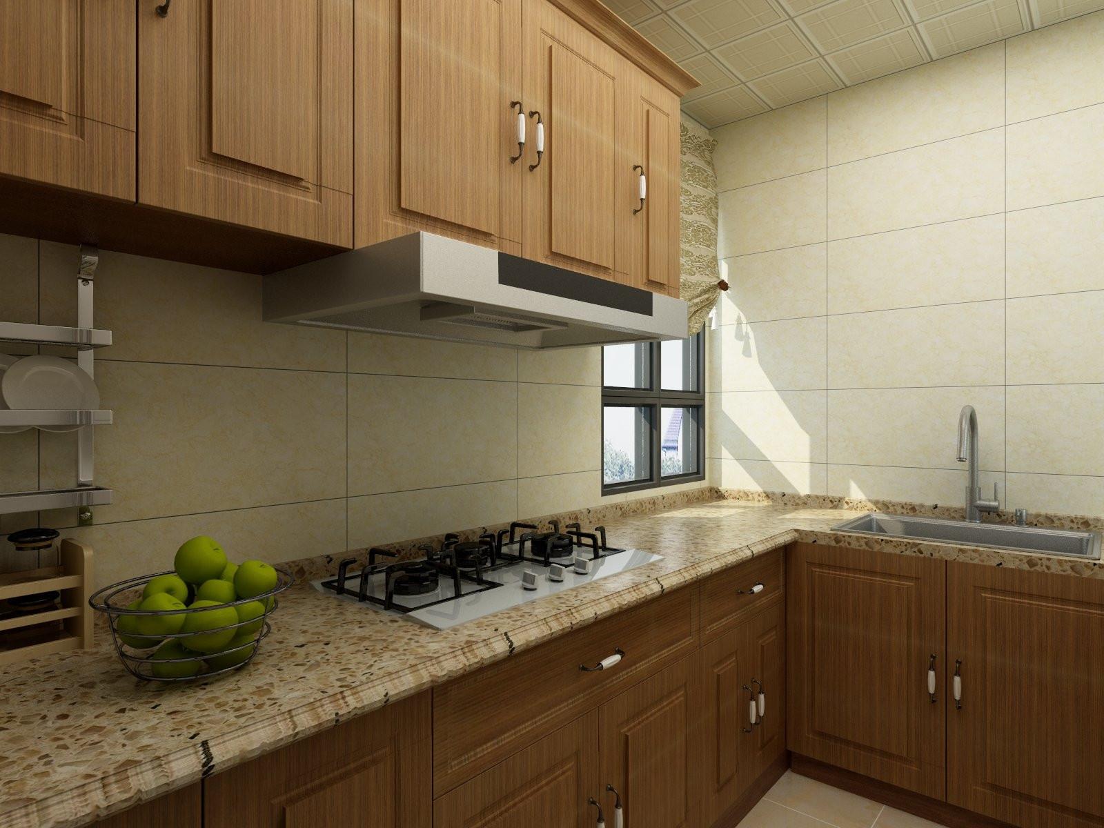 欧式三居装修厨房效果图