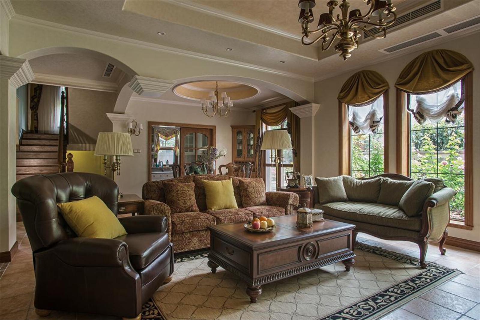 美式乡村别墅设计沙发图片