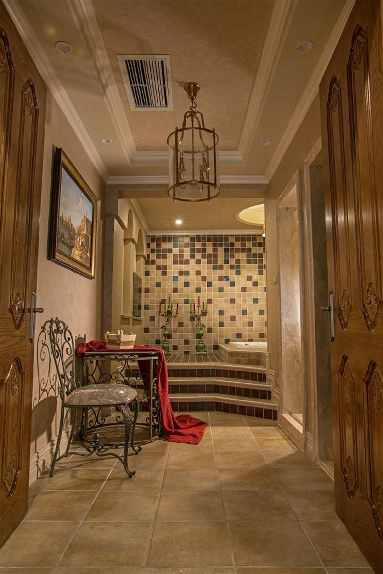 美式乡村别墅浴室设计图