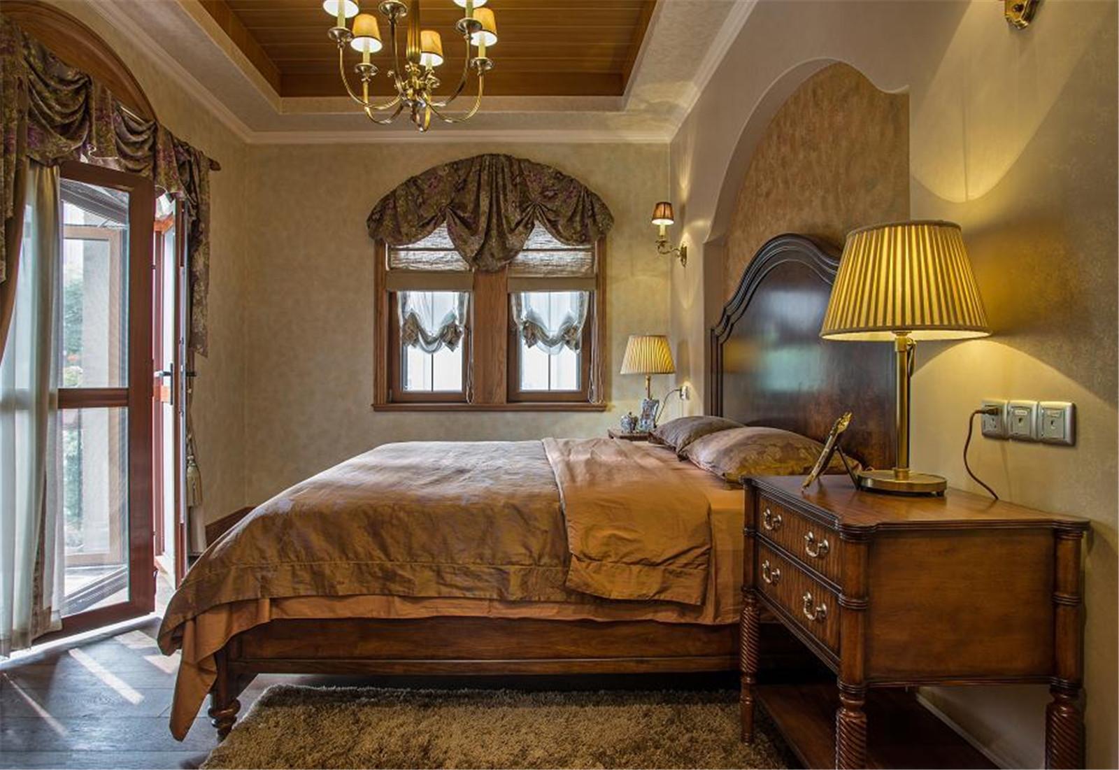 美式乡村别墅设计卧室欣赏图