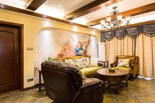 150㎡美式之家沙发背景墙图片