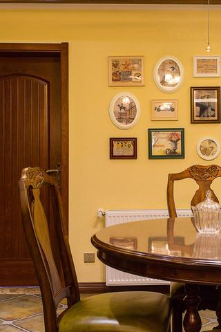 150㎡美式之家餐厅背景墙图片