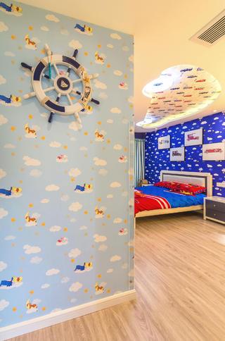 现代简约三居之家儿童房墙面装饰