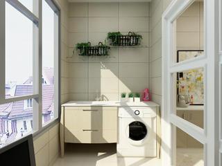 60平简约装修阳台洗衣区