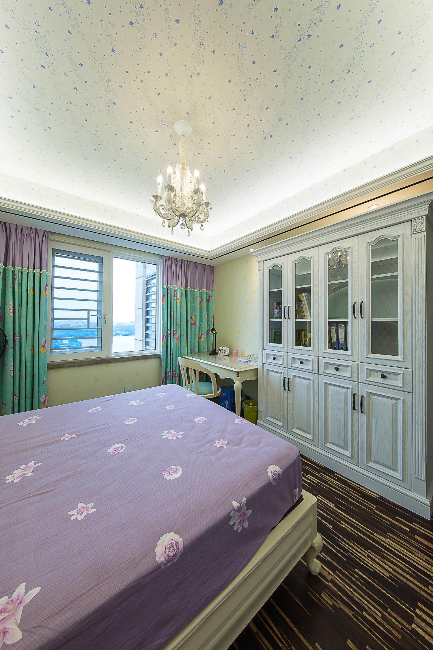 新古典三居室装修书柜图片