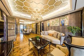 新古典三居室裝修客廳設計圖