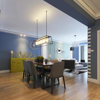 现代简约三居室装修餐厅效果图