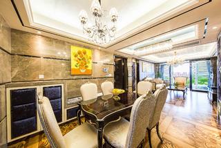 新古典三居室装修餐厅背景墙图片