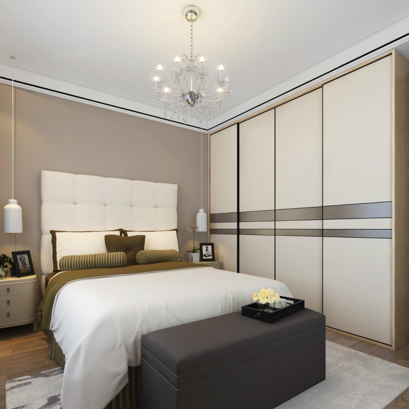 现代简约三居室装修衣柜图片