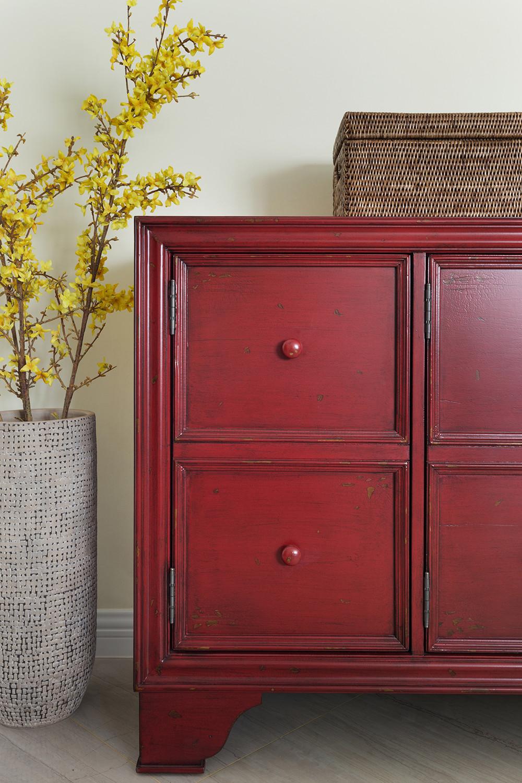 140平美式风格家客厅边柜图片