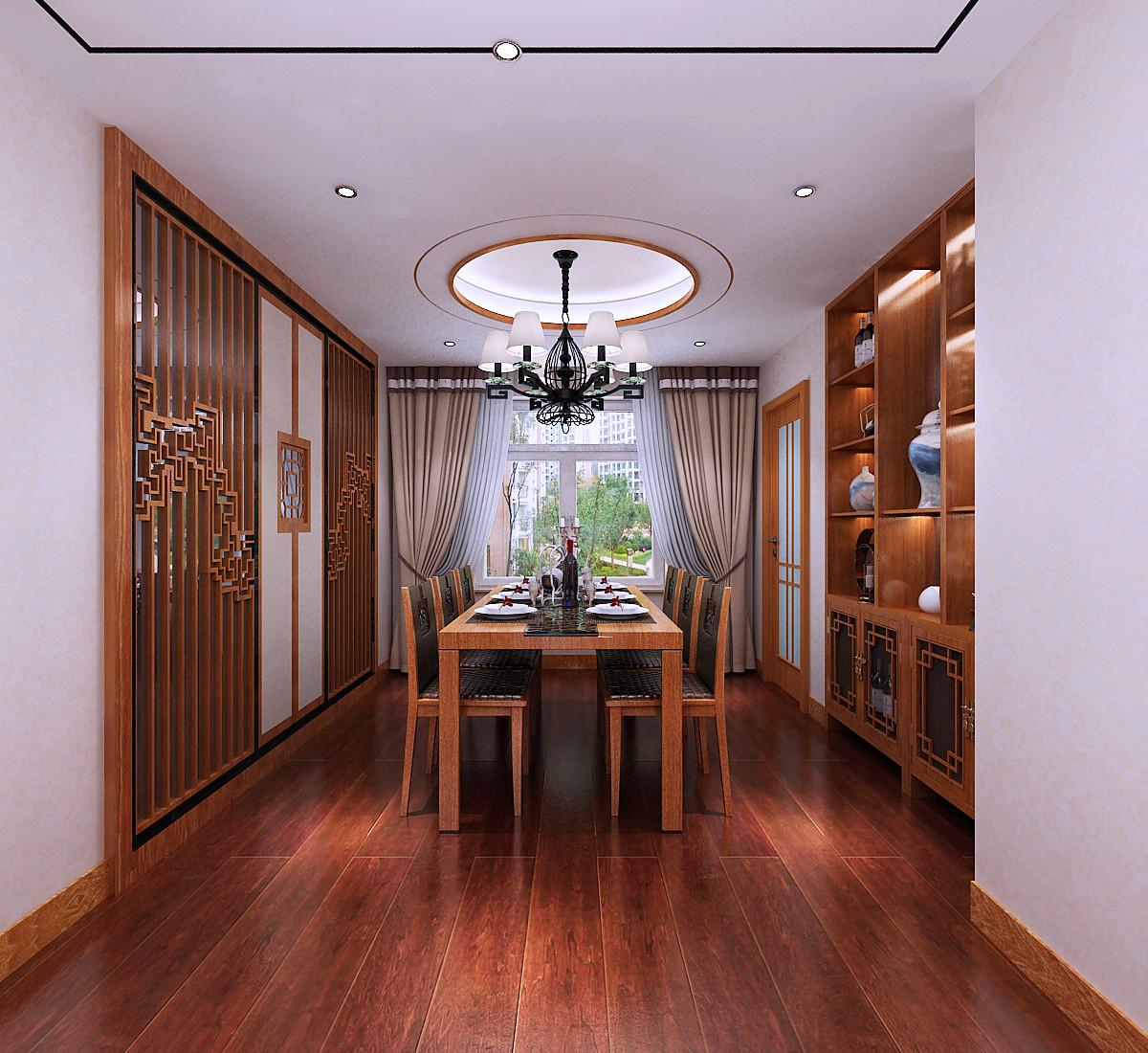 新中式装修餐厅效果图