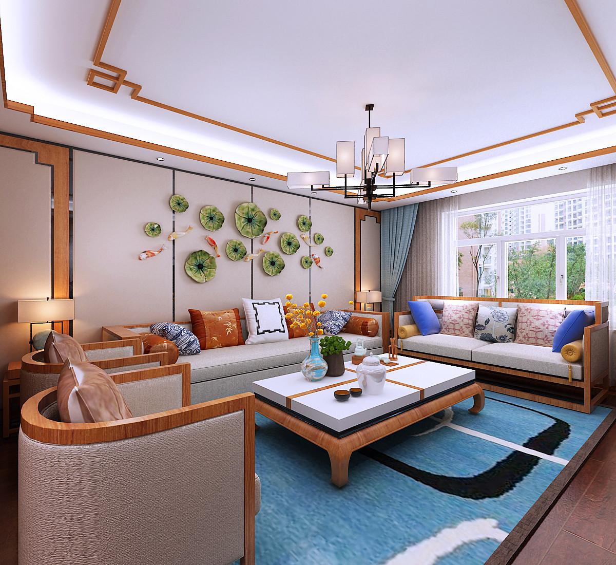 新中式装修客厅效果图