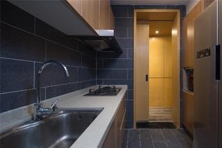 现代简约二居厨房设计图