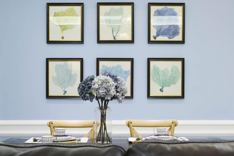 混搭三居装修餐厅背景墙图片