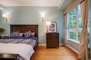 混搭三居装修卧室背景墙图片