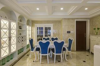 欧式四居装修餐桌椅图片