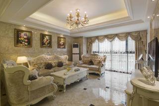 欧式四居装修客厅搭配图
