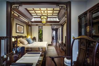 中式样板间装修卧室效果图