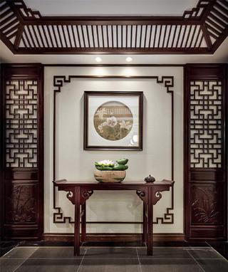 中式样板间装修玄关设计