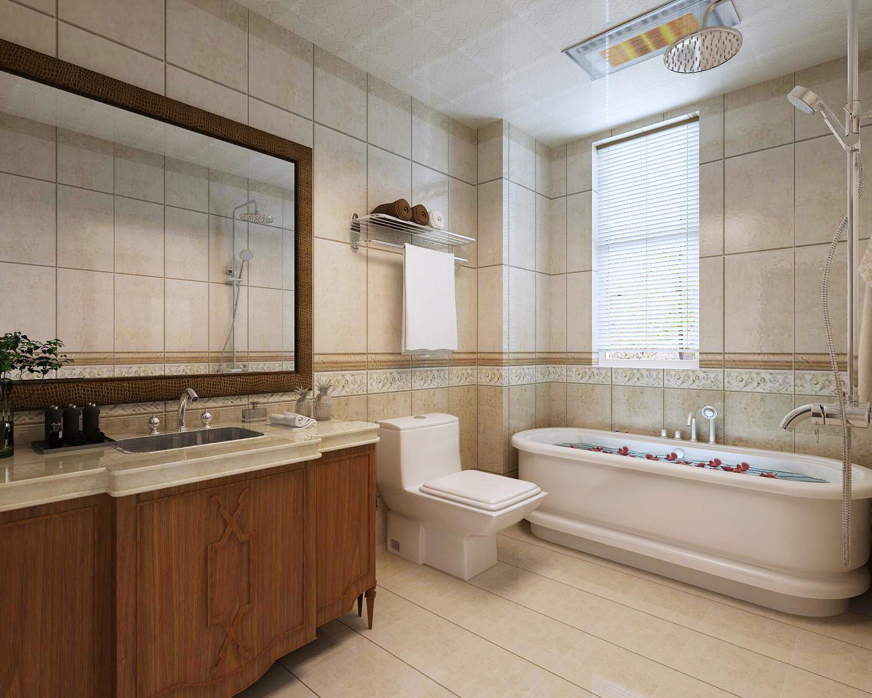 新中式装修卫生间设计图