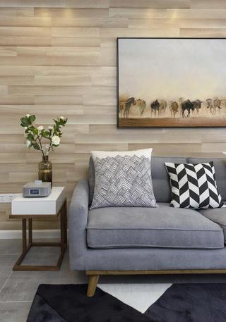 北欧二居之家沙发背景墙图片