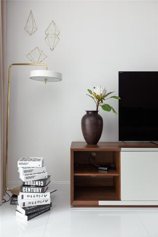 简约三居装修电视墙图片