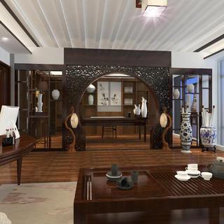 中式别墅装修效果图 古风雅韵