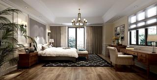 现代美式别墅装修卧室设计图