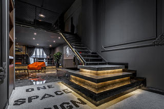 混搭风格办公室装修楼梯设计