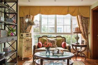 大户型经典美式家窗帘图片