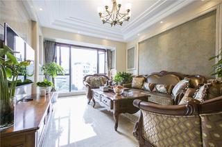 欧式风格装修沙发背景墙图片