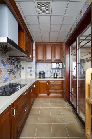 130平中式风格家厨房构造图