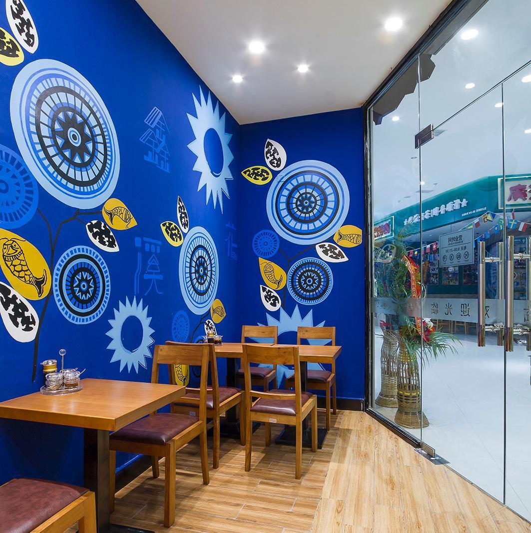 90平快餐厅装修设计图