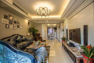 欧式三居装修客厅搭配图
