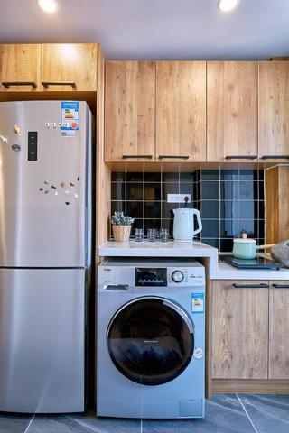 北欧混搭二居设计橱柜图片