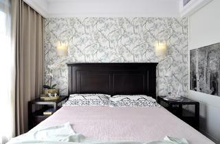 二居室美式风格家卧室背景墙图片
