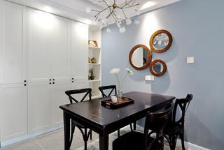二居室美式风格家餐厅背景墙图片
