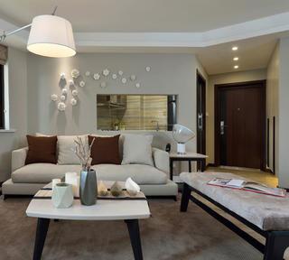 现代简约之家沙发背景墙图片