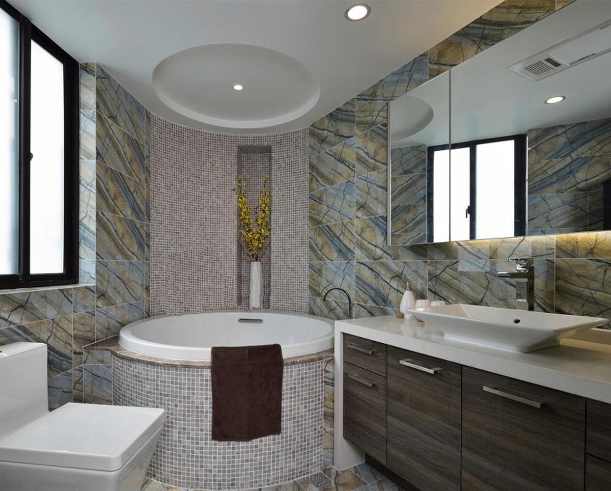 现代简约之家卫生间装潢图