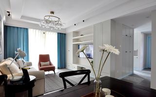 二居室美式风格家电视墙设计