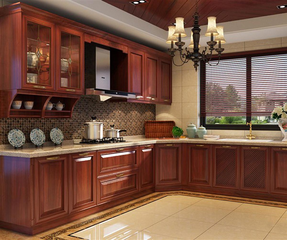 新中式豪华别墅装修厨房设计图