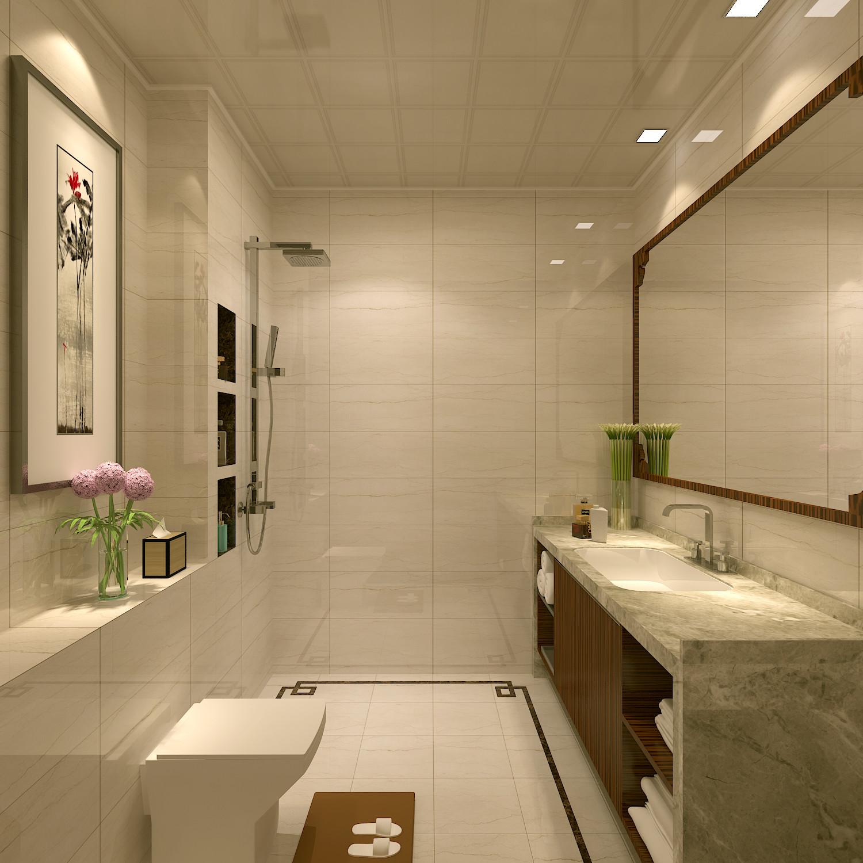 新中式豪华别墅装修卫生间设计图