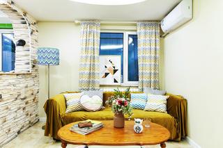 50㎡小户型混搭风装修沙发图片