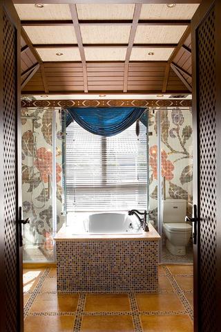东南亚休闲别墅装修浴缸图片