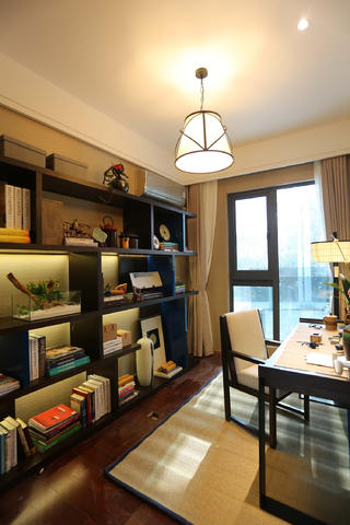 108平中式风之家书架图片