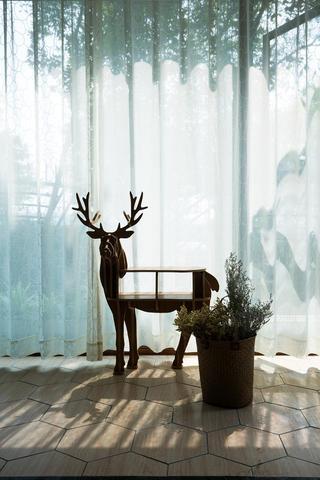110㎡北欧风格家阳台小景