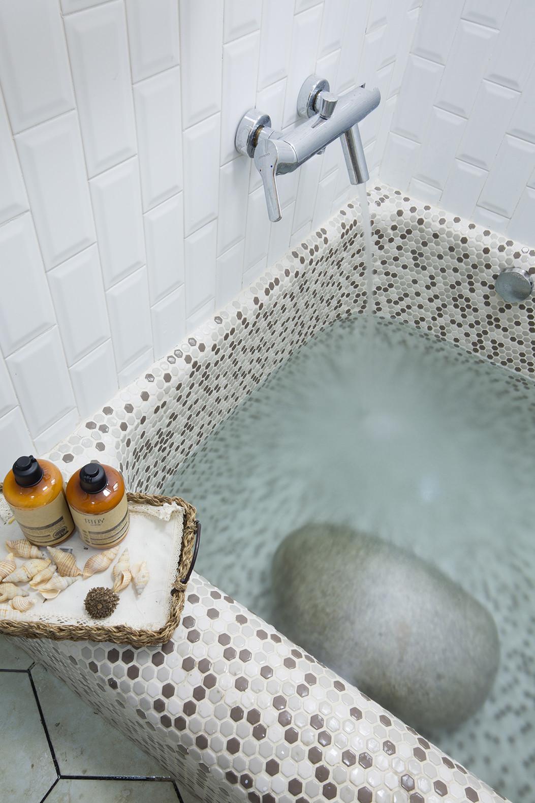 110㎡北欧风格家浴缸图片