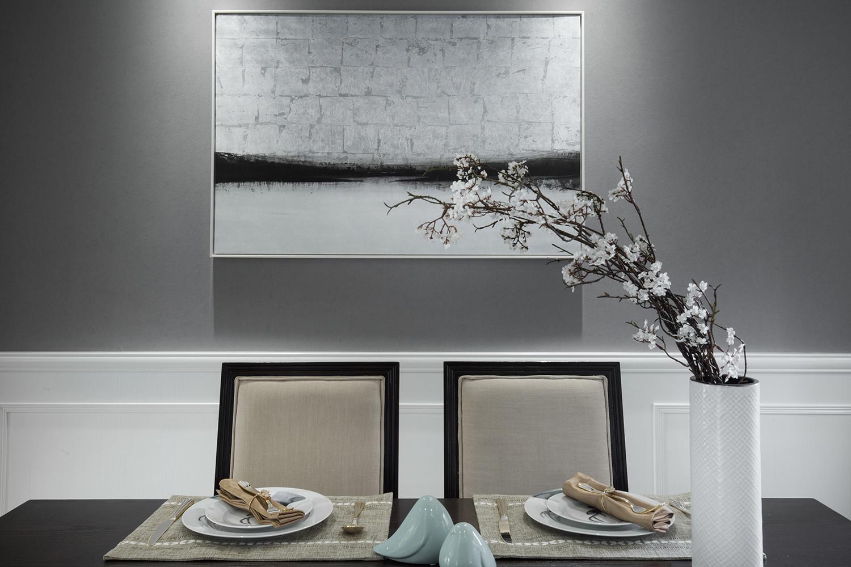 美式二居装修餐厅背景墙图片