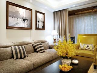 139平简约风格家沙发背景墙图片